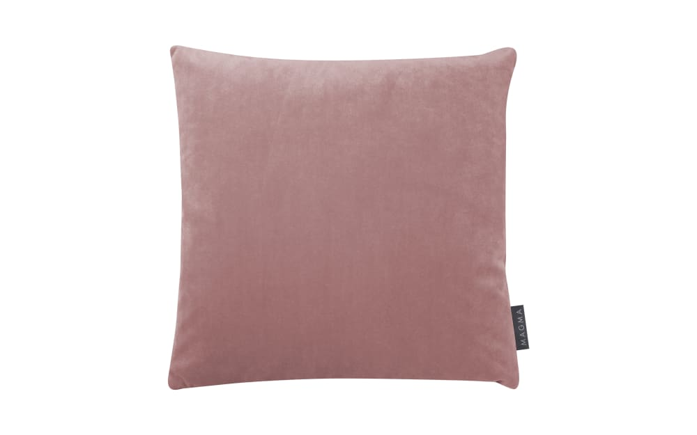 Magma Kissenhülle Samt uni in rose, 40 x 40 cm
