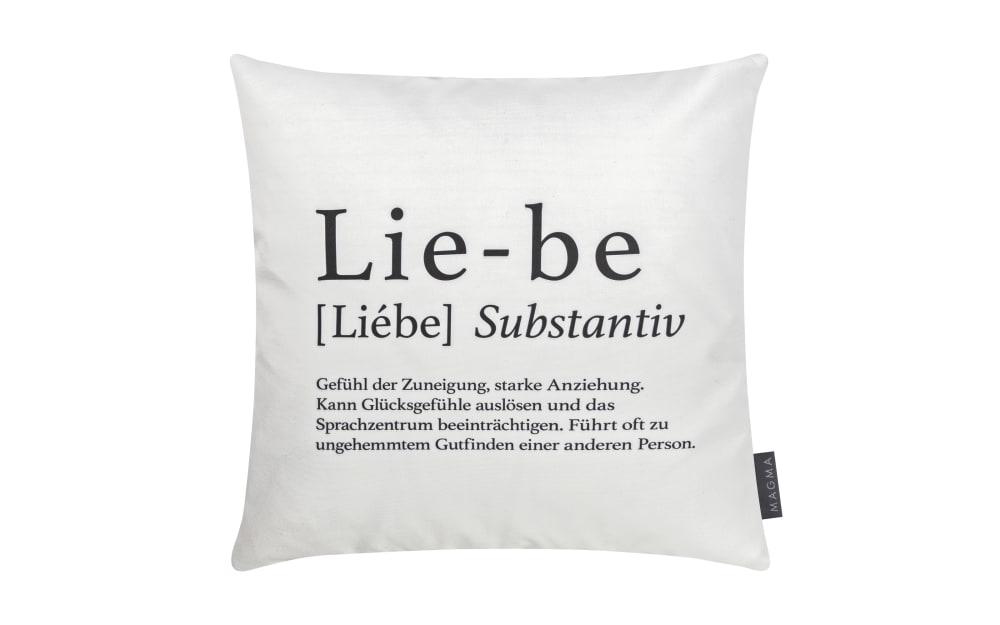 Magma Kissenhülle Wortart Liebe, 40 x 40 cm