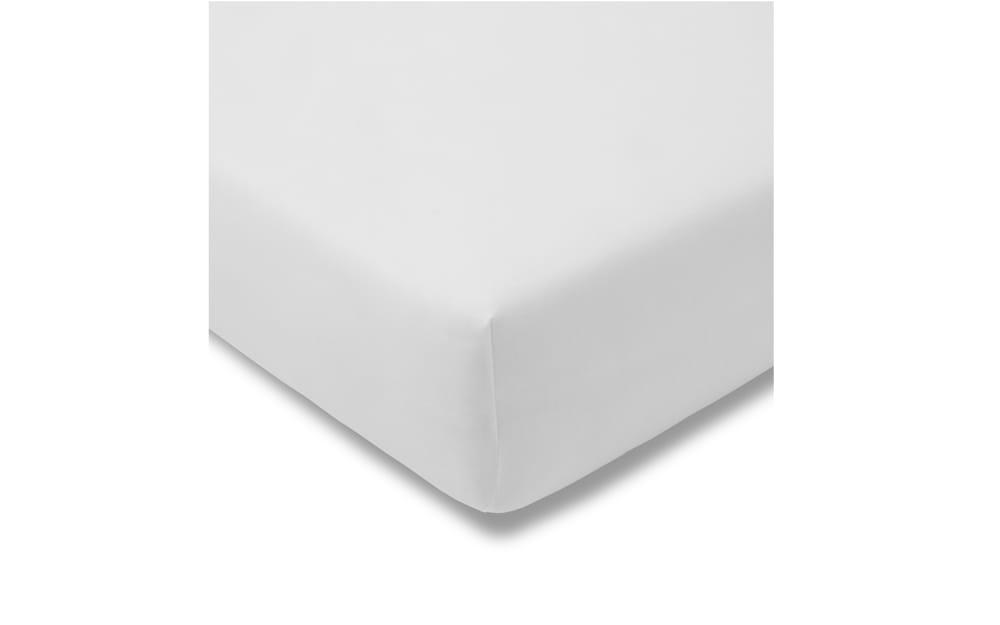Estella Spannbettlaken Fein Jersey in weiß, 100 x 200 cm