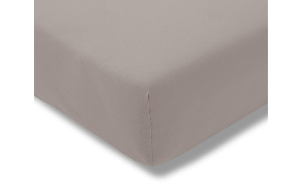 Estella Spannbettlaken Fein Jersey in kiesel, 100 x 200 cm