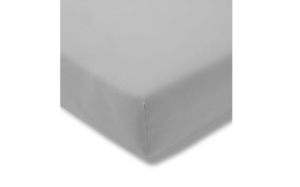 Estella Spannbettlaken Fein Jersey in platin, 150 x 200 cm