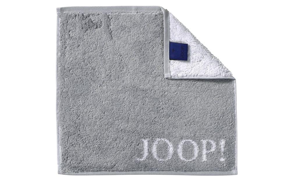 JOOP! Seifenlappen Classic Doubleface in silber, 30 x 30 cm