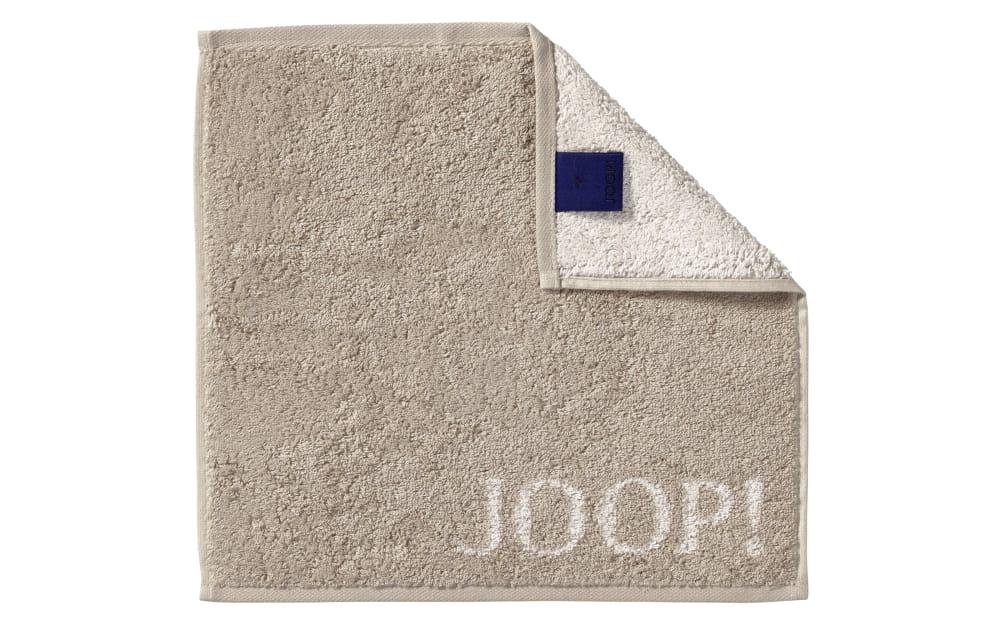 JOOP! Seifenlappen Classic Doubleface in sand, 30 x 30 cm