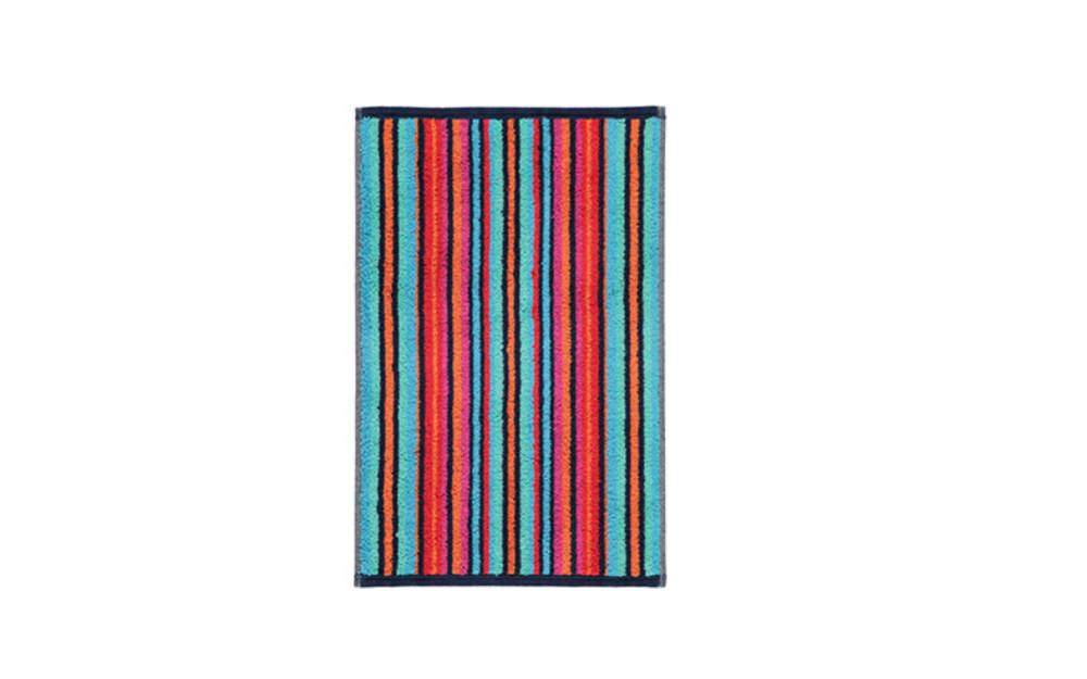 Cawö Gästetuch Art Streifen in multicolor blau, 30 x 50 cm