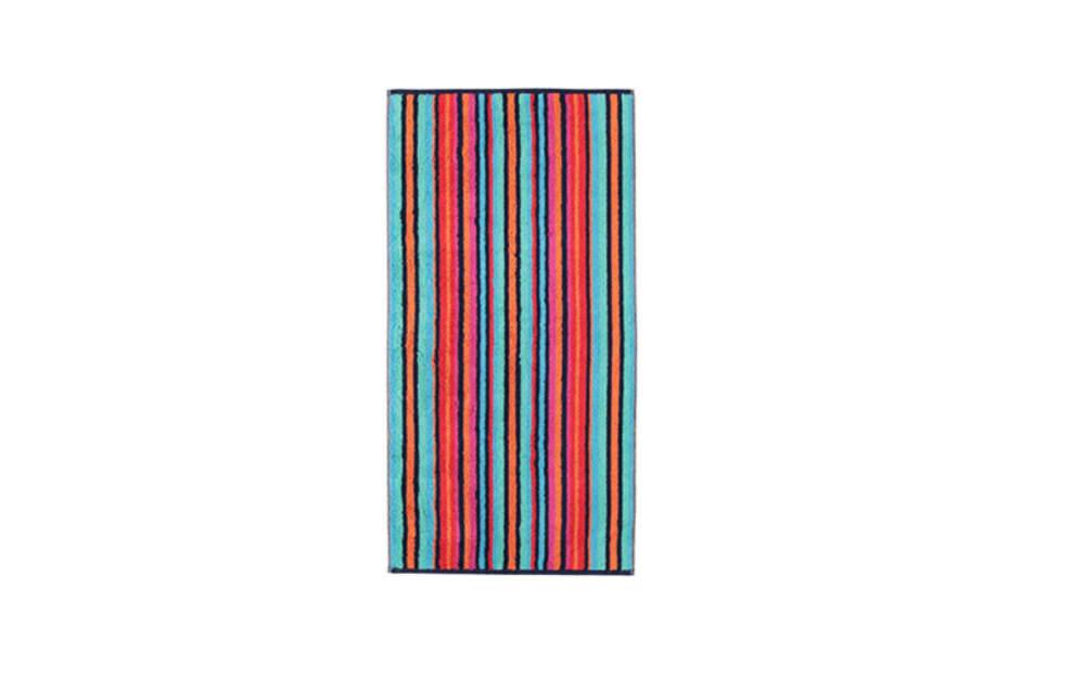 Cawö Duschtuch Art Streifen in multicolor blau, 70 x 140 cm
