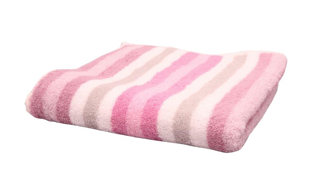 Cawö Handtuch Streifen in rose, 50 x 100 cm