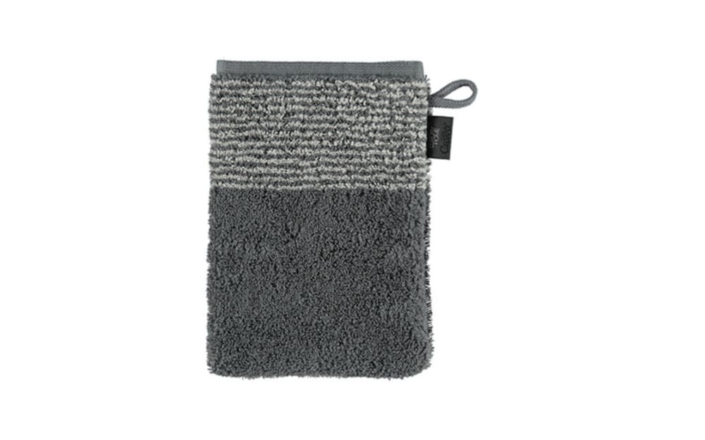 Cawö Waschhandschuh Two-Tone in schiefer, 16 x 22 cm