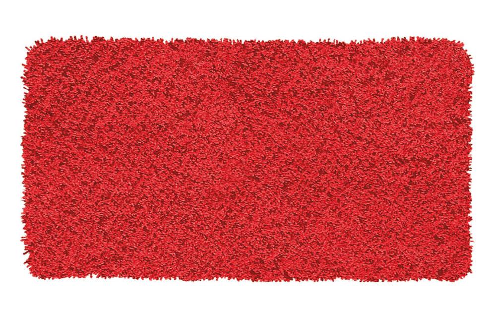 Kleine Wolke Badteppich Trend in rot, 70 x 120 cm