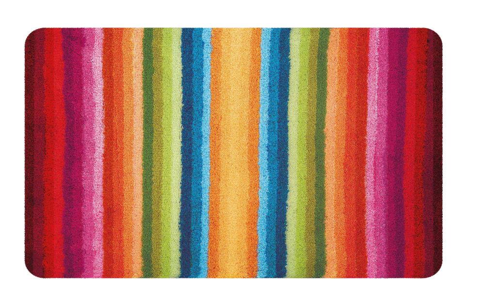 Kleine Wolke Badteppich Funky in multicolor, 60 x 90 cm