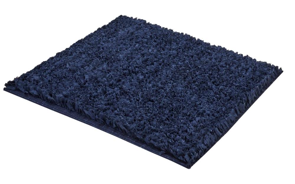 Kleine Wolke Badteppich Delight in dunkelblau, 60 x 60 cm