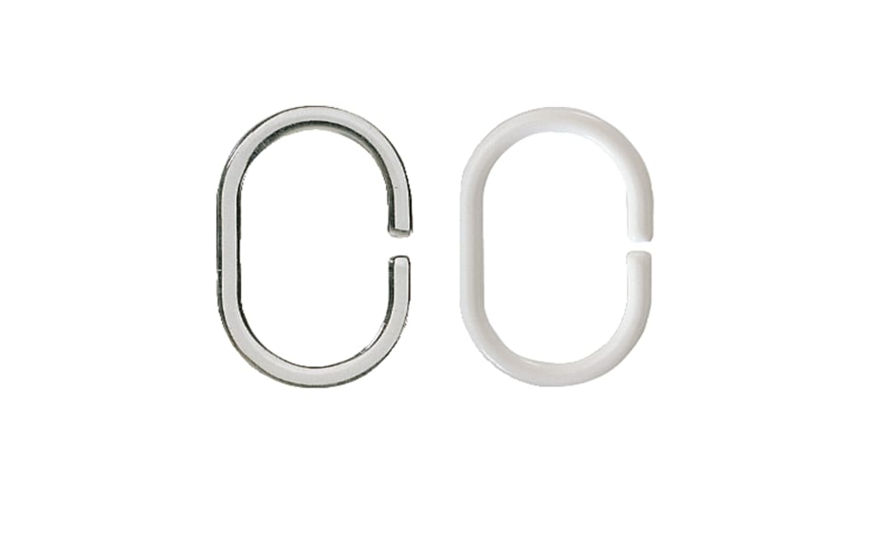 Kleine Wolke Duschvorhang-Ringe in klar