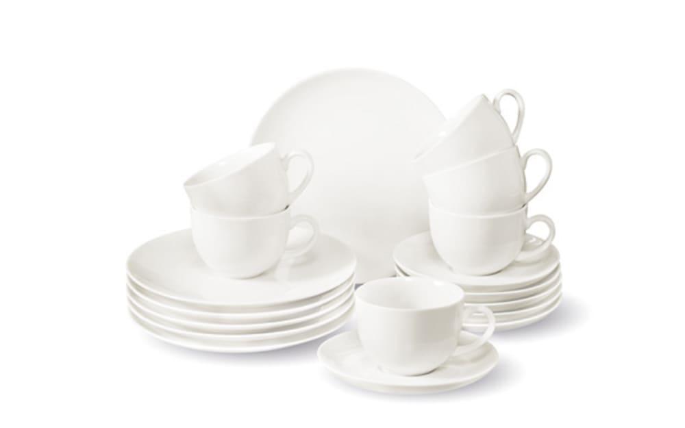 Villeroy & Boch Kaffeeservice New Fresh in weiß, 18-teilig
