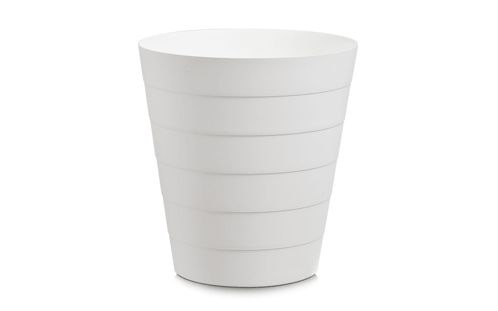 Zeller Abfalleimer in weiß, 13,5 l