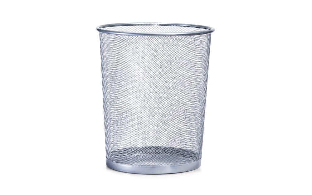 Zeller Papierkorb Mesh in silberfarbig, 29,5 cm