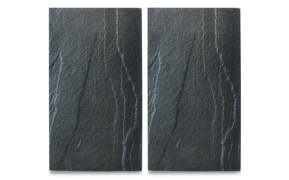 Zeller Herdabdeck-/Schneideplatten in Schieferoptik 2er-Set, 30 x 52 cm