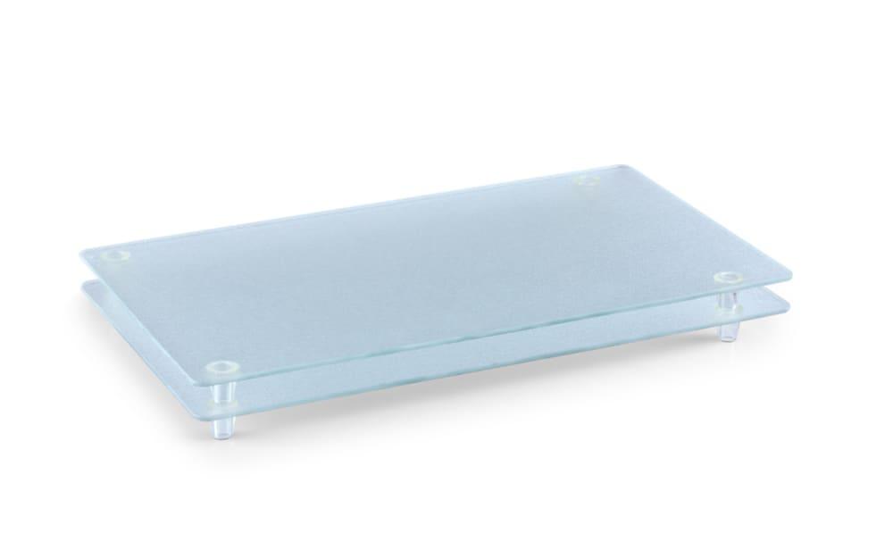 Zeller Glasschneideplatte für 4-Plattenkochfeld in matt transparent, 50 x 30 x 3 cm