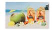 Fußmatte Deco Print Flip-Flop-Schuhe, 40 x 60 cm