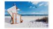 Fußmatte Deco Print Strand Motiv, 40 x 60 cm