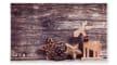 Fußmatte Deco Print Holz-Reh, 40 x 60 cm