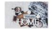 Fußmatte Deco Print Winter-Motiv, 40 x 60 cm