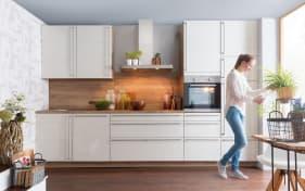 Einbauküche Culineo 2305 Monaco in perlmutt, Siemens-Geschirrspüler