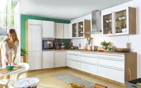 Einbauküche Culineo 2305 Monaco in perlmutt, AEG-Geschirrspüler