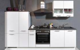 Einbauküche Focus in weiß, Miele-Geschirrspüler