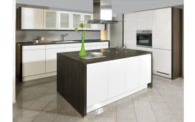 Einbauküche Pura in Lack Hochglanz weiß