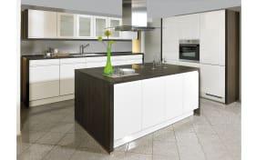 Einbauküche Pura in Lack weiß Hochglanz