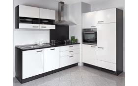 Einbauküche Focus in Lack Hochglanz weiß