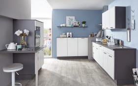 Einbauküche Speed weiß softmatt, Bauknecht-Geschirrspüler