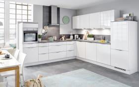 Einbauküche Focus in weiß, Siemens-Geschirrspüler SN614X00AE