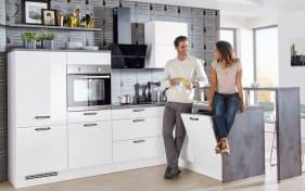 Marken-Einbauküche Focus in weiß