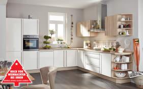 Marken-Einbauküche Flash in magnolia, AEG Backofen