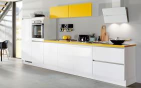 Einbauküche Focus in alpinweiß, Siemens-Geschirrspüler
