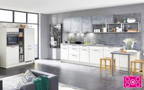 Einbauküche Touch alpinweiß seidenmatt, Bauknecht-Geschirrspüler