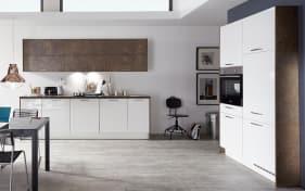 Einbauküche Flash in weiß Hochglanz