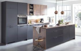 Einbauküche Touch in schwarz