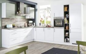 Einbauküche Focus in alpinweiß Lack, AEG-Geschirrspüler