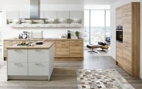 Einbauküche Fashion in Lack alpinweiß matt, Bauknecht-Geschirrspüler