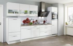 Einbauküche Laser in alpinweiß, Bauknecht-Geschirrspüler