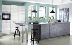 Einbauküche Riva in schiefergrau/Beton-Optik, Bosch-Geschirrspüler