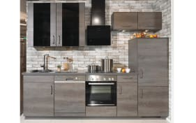 Einbauküche Riva in Eiche Dakota-Optik, Siemens Geschirrspüler