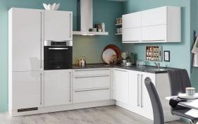 Einbauküche Focus in alpinweiß Ultrahochglanz Lack