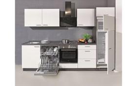 Einbauküche Moon in weiß, Miele-Geschirrspüler G4380VIED