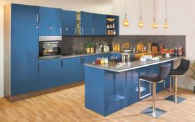 Einbauküche Laser brillant in blau