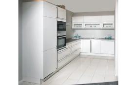 Einbauküche Laser Brillant in weiß, Siemens-Geschirrspüler SN614X00AE