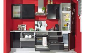 Einbauküche Cristall in schwarz, Siemens-Geschirrspüler