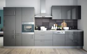 Einbauküche Cristall in grau