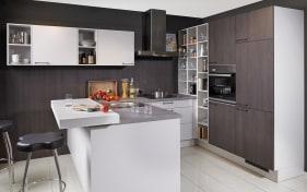 Einbauküche Toronto Eiche-Nougat-Optik, Blaupunkt-Geschirrspüler